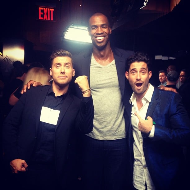 Lance Bass met up with NBA player Jason Collins during the MTV VMAs. Source: Instagram user lancebass