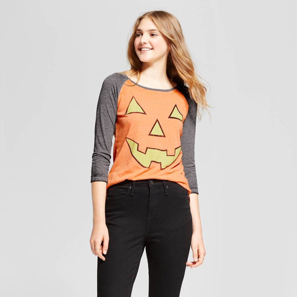 Zoe+Liv Jack O Lantern Glow-in-the-Dark Graphic Raglan