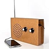 Portable Cardboard Radio and Speaker ($43)