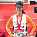 Woot — 26.2 miles done and done for Christy Turlington.