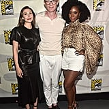 Pictured: Elizabeth Olsen, Paul Bettany, and Teyonah Parris at San Diego Comic-Con.