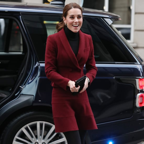 Kate Middleton Burgundy Skirt Suit November 2018