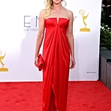 Boardwalk Empire's Gretchen Mol went for a bold red dress on the red carpet.