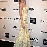 Lindsay Ellingson, wearing Wes Gordon, at amfAR's New York Gala.