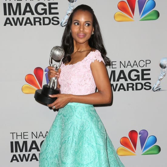 Pictures: Kerry Washington Aqua & Pink Outift; Halle Berry