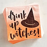 Drink Up Witches Halloween Paper Cocktail Napkins