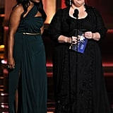 Presenters Mindy Kaling and Melissa McCarthy teased the nominees.