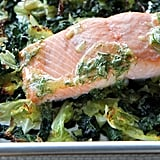 1-Pan Salmon With Crispy Cabbage and Kale