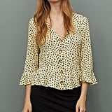 H&M V-Neck Blouse With Buttons