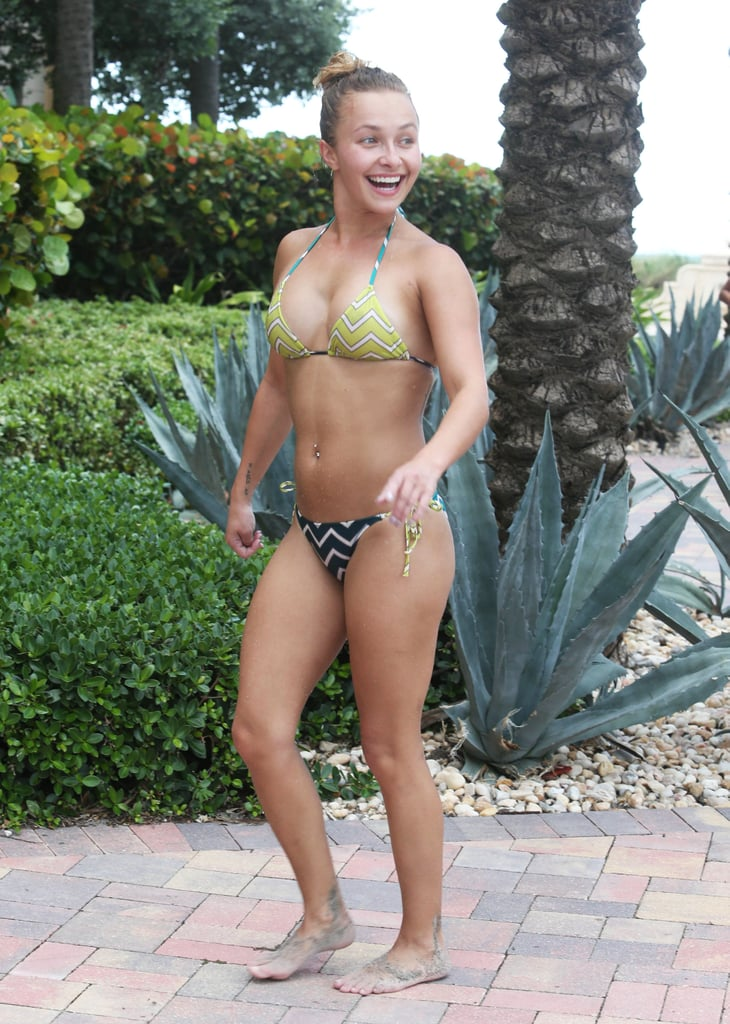 Hayden Panettiere was all smiles at the beach.