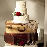 Use vintage luggage as an adorable cake stand.