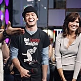 Justin Timberlake and Mandy Moore both made their way to TRL in 2003.