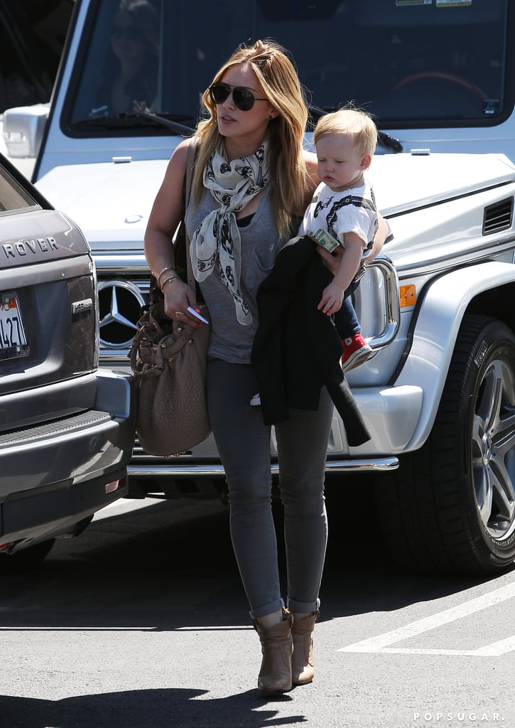 Hilary Duff ran errands in LA with her son, Luca Comrie.