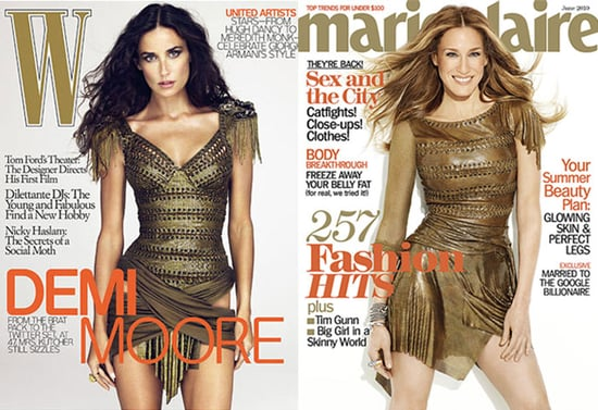Sarah Jessica Parker Wears Balmain on Cover of Marie Claire and Demi Moore Wears Balmain on Cover of W
