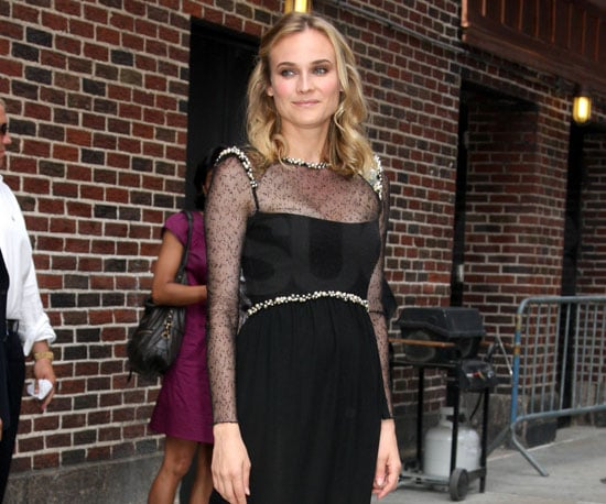 Slide Photo of Diane Kruger Promoting Inglourious Basterds at the Late Show