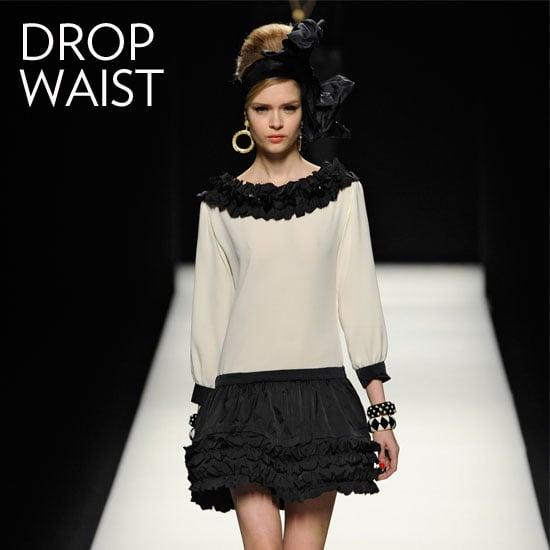 Why we love them: Drop waists carry with them a quintessentially girlie, retro quality. They instantly conjure images of the '20s, though reworked in new fabrications and textures they feel decidedly modern too. How to wear them: With these dresses, the fabric sets the tone for the look. In a slick finish, take the look to evening with your sexiest heels to counter the more demure silhouette. If you're styling it for day, we love adding low-key ankle boots for an easy, tomboy-inspired finish. In this photo: Moschino Fall 2012