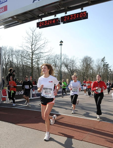Photos of Natalia Vodianova Running a Half Marathon and Then Walking for Givenchy