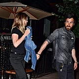 Jennifer Aniston and Justin Theroux Hold Hands NYC June 2016