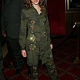 She was back in green in 2002 for the premiere of The Chamber of Secrets.