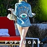 Emma Roberts's Mikoh Peach Swimsuit