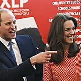 The pair were all smiles during a visit to St Thomas' Hospital in London in March.