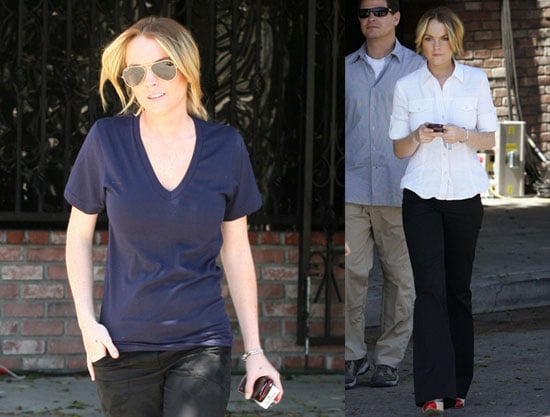 Photos of Lindsay Lohan on the Set of Labor Pains in LA The Day Before her 22nd Birthday