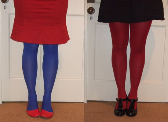 How to wear Opaque color tights