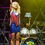 Rita Ora was all about fringe benefits.