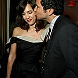 Cash kissed Jessica at the Vanity Fair Oscars party in February 2009 in LA.