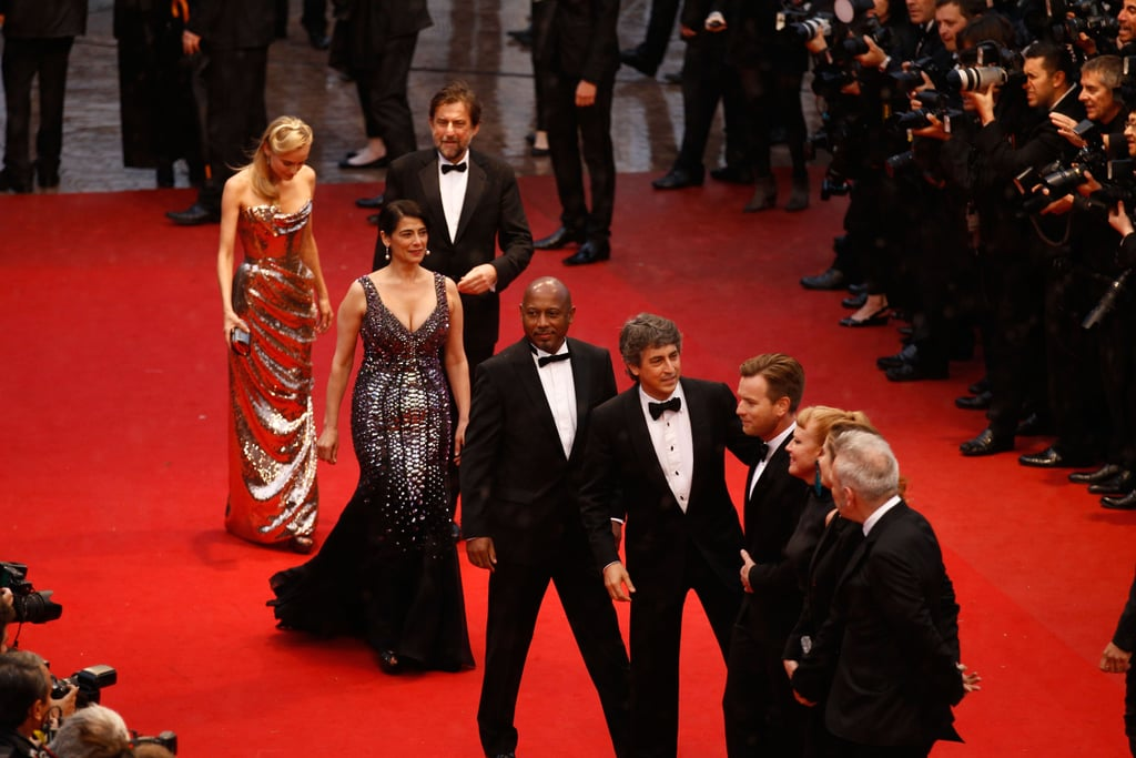 Stars on the red carpet at the premiere of Amour.