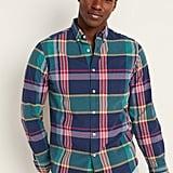 Regular-Fit Built-In Flex Plaid Everyday Shirt