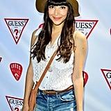 Hannah Simone rocked a hat.