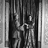 Playing Aladdin alongside sister Margaret in a pantomime at Windsor Castle in 1943.