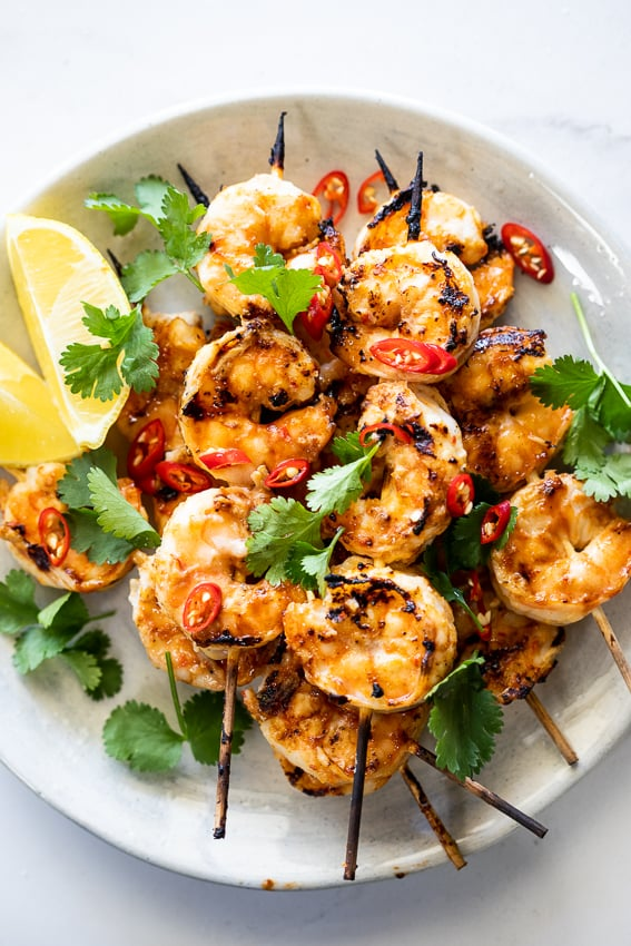 Shrimp Garlic Skewers