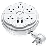 Poweradd Travel Power Strip 5 Outlet Surge Protector