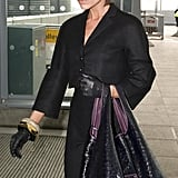 Victoria Beckham at the Airport in Black
