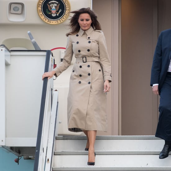 Melania Trump Burberry Trench Coat in Brussels July 2018