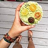 Lemon Avocado Rice Cake