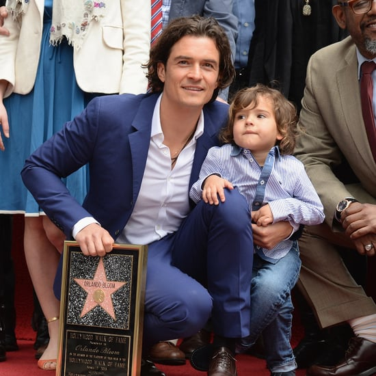 Orlando Bloom and Flynn at Hollywood Walk of Fame Ceremony