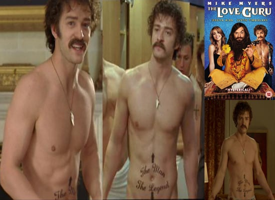 Photos of Shirtless Justin Timberlake in The Love Guru DVD Out on Boxing Today