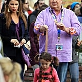 Sofia Vergara Filming Modern Family at Disneyland Pictures