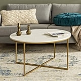 WE Furniture Modern Round Coffee Accent Table