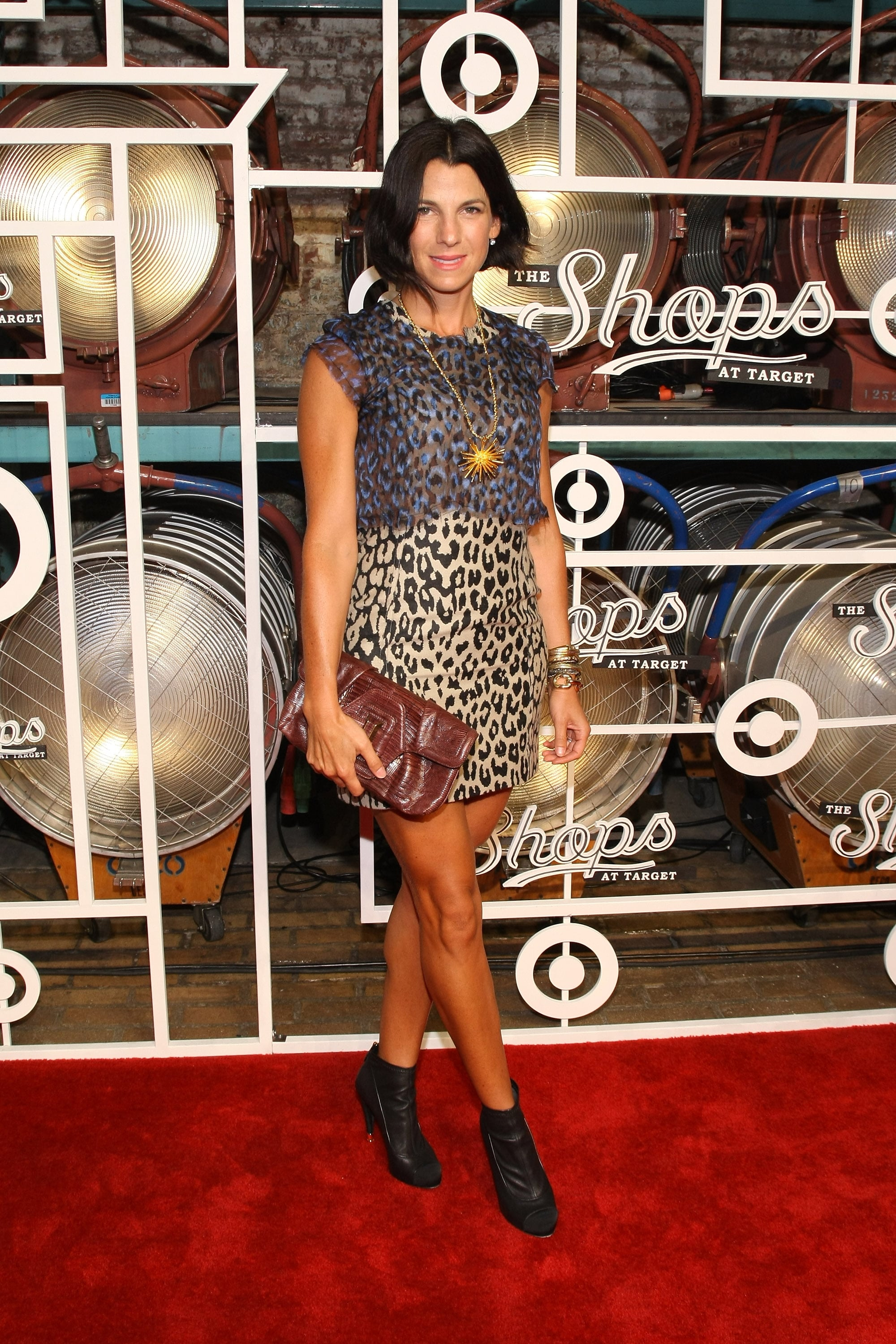 Jessica Seinfeld showed off a wild print at the Shops at Target.