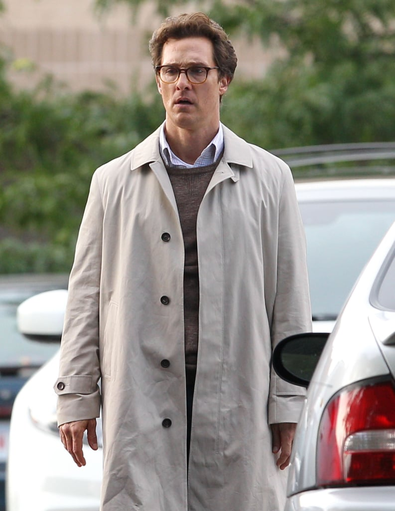 On Tuesday, Matthew McConaughey looked focused while filming scenes for his new movie The Sea of Trees.