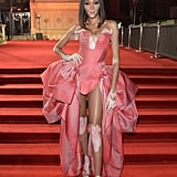 Winnie Harlow at the British Fashion Awards 2019