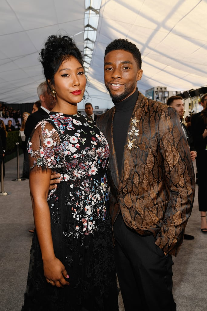 Chadwick Boseman and his girlfriend Taylor Simone Ledward made a rare joint appearance at the SAG Awards on Jan. 27, and we're so glad they did. They gorgeous couple cozied up on the red carpet and posed with fellow celebrities, including This Is Us cast members Sterling K. Brown and Susan Kelechi Watson.  The 41-year-old Black Panther star and 27-year-old singer first sparked romance rumors in February 2018 when they were spotted together at an NBA All-Star game with his costar Michael B. Jordan. While Taylor and Chadwick keep their romance under the radar, they were confirmed as dating back in April of last year after her grandma shared the news with In Touch.  Even if you have a big crush on Chadwick, it's easy to love these two together. See more photos from their night at the SAG Awards, ahead.       Related:                                                                                                           Vanity Fair's 25th Annual Hollywood Issue Shows a Beautifully Diverse Vision of Hollywood