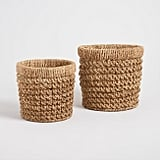 Natural Hyacinth Curled Weave Harlow Baskets