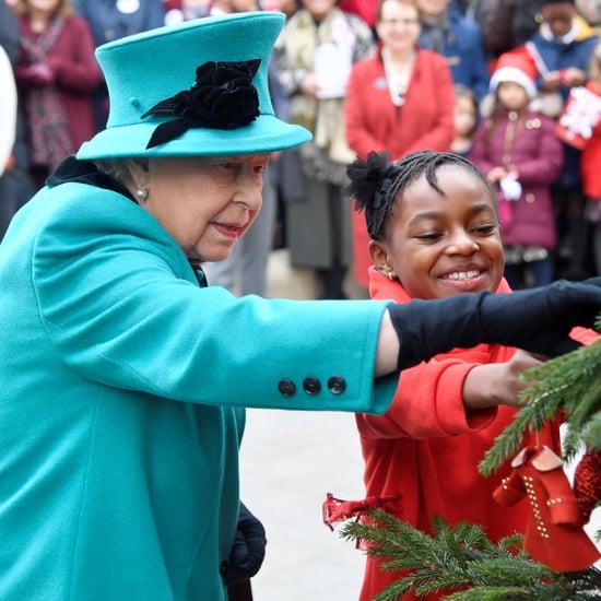 Queen Elizabeth II at Coram Charity in London December 2018