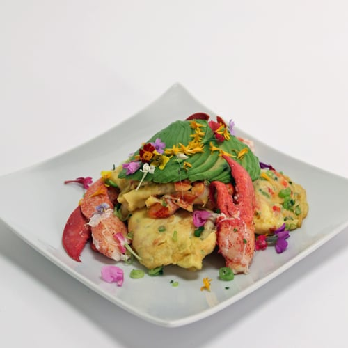 Lobster Avocado Scramble