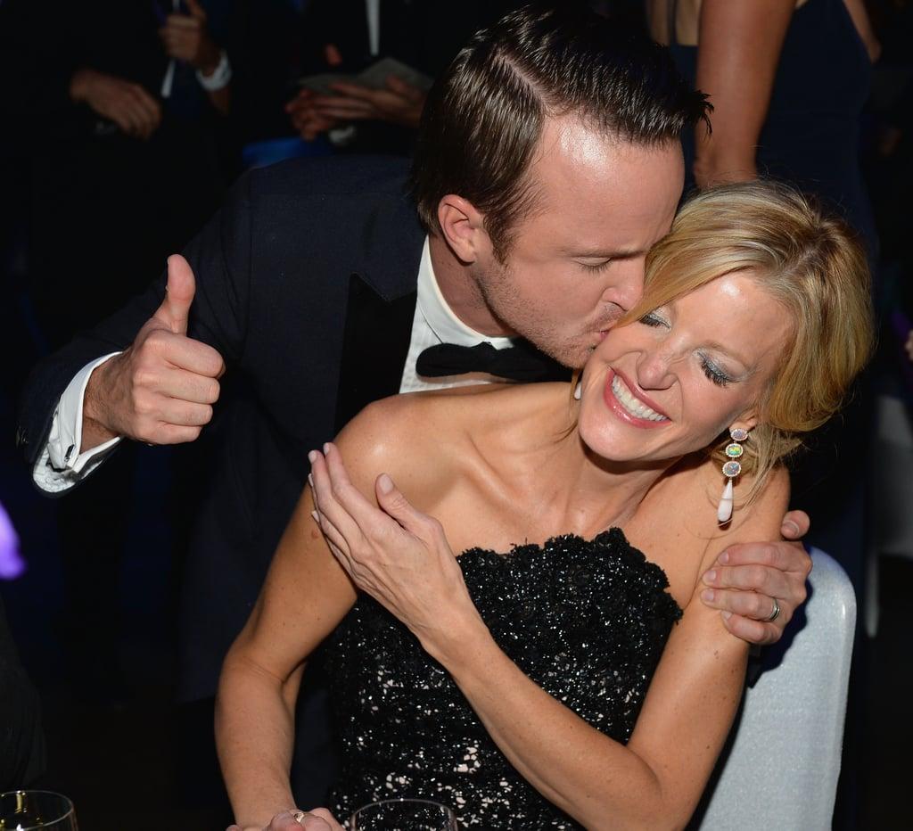 Aaron Paul and Anna Gunn at the 2013 Emmy Awards